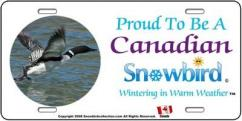 Snowbirds Canadian License Plate