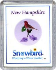 Snowbirds New Hampshire Magnet