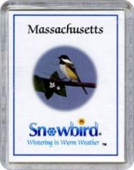 Snowbirds Massachusetts Magnet