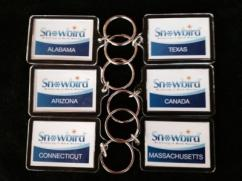 Snowbirds State or Province Key Chains
