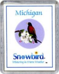 Snowbirds Michigan Magnet