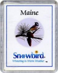 Snowbirds Maine Magnet