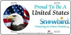 Snowbirds Proud To Be A United States Snowbird License Plate