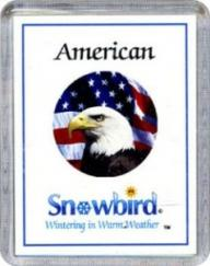 Snowbirds American Magnets