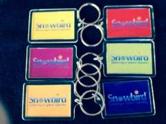 Snowbirds Colored Keychains